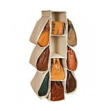 10 Pocket Shelf Storage Closet handbag Generic Vertical Hanging Purse Organizer