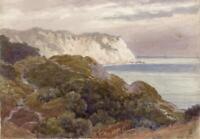 FREDERICK WILLIAM BIDDER (1862-1938) Watercolour Painting THE WARREN FOLKESTONE