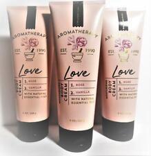 3 Bath & Body Works Aromatherapy LOVE Rose Vanilla Body Cream 8 oz