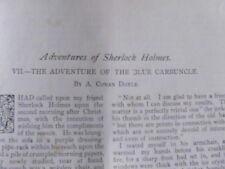Adventures Sherlock Holmes Blue Carbuncle Conan Doyle Original 1st Edition 1892