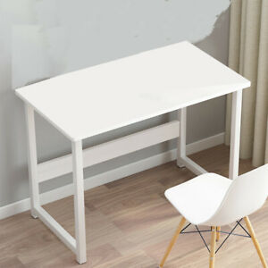 White Small Home Office Computer Desk Desktop PC Table Study Workstation