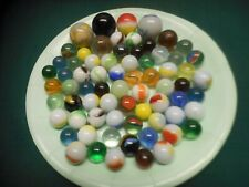 Antique Vintage ESTATE LOT of 70 MARBLES  ~  Cat Eyes Swirls Patch Variety