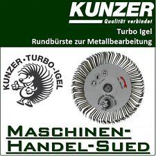 Kunzer 7TI02 Turbo Igel Rundbürste Schleifbürste mit Dorn