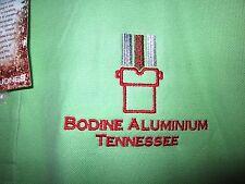 BODINE ALUMINUM polo shirt 2XL Toyota XXL Tennessee NWT Ecos green OG foundry