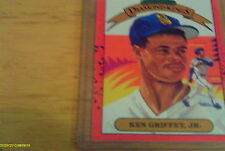 Donruss Diamind Kings 1990 Ken Griffey Jr. Seattle Mariners #4 Baseball Card