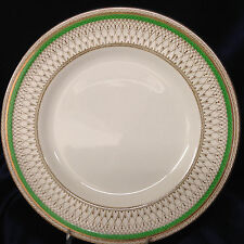 "MEAKIN J&G SOL WESTMINSTER GREEN BAND DINNER PLATE 9 7/8"" ENGLAND"