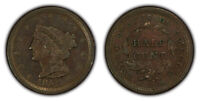 1851 1/2c Braided Hair Half Cent - Original AU+ Coin - SKU-X1538