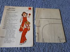 Vintage 1970s Silver Needles sewing pattern No: 13 Child's overalls uncut