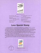 #8521 22c Love Stamp - Scott #2143 USPS USPS Souvenir Page
