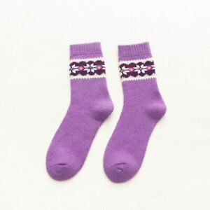 Women Winter Thermal Terry Socks Thick Warm Soft Sports Solid Casual Socks Lot