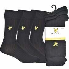 Lyle & Scott 3-Pack Golden Eagle Logo Ribbed Bamboo Men's Socks, Black One Size