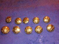 Crazy Cheryl Civil War 10 brass Union eagle Button's Lot 10 sets of 10.