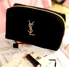 "YSL Yves Saint Laurent Beauty Black Velvet Cosmetic Makeup Trousse Bag ""FREE/P!"