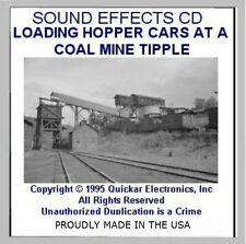 HO SCALE SOUND EFFECTS CD LOADING HOPPER CARS AT A COAL MINE TIPPLE