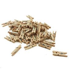 100 Mini Wood Clothespins Baby Shower Rustic Wedding Decor Crafts Art Wood