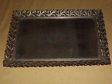"Vintage 15 1/4"" X 10 1/4"" Gold Framed Decorative Mirror Vanity Tray"
