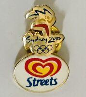 Sydney 2000 Olympics Streets Ice Cream Sponsor Pin Badge Rare Vintage (A10)