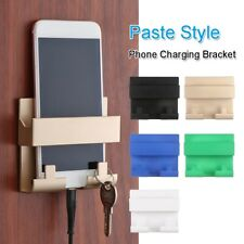 Paste Style Mobile Phone Charging Holder Bracket For Keyring Wall Mount Stand-