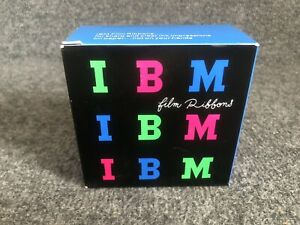 Vintage IBM Box Of 6 Black Film Ribbons Typewriter Models A B C D & Others