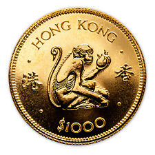 1980 Hong Kong Gold $1000 Year of the Monkey BU - SKU #49940