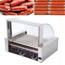 Commercial Roller Dog 24 Hot Dog 9 Roller Grill Cooker Machine 8Rows of 3 /Batch