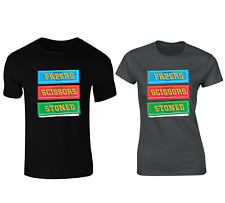 Rizla Rolling Papers Scissors Stoned Funny CBD T-shirt - Mens And Womens Sizes