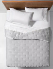 Opalhouse Target Gray Tufted Velvet Quilt  Full / Queen + 2 Standard Shams