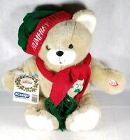 """Jumbo 1999 Humfrey """"Hug Me"""" Teddy Bear Plush Stuffed Animal Christmas Holiday"""