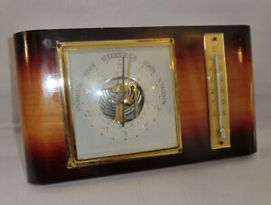 WETTERSTATION zweifarbig SKELETON BAROMETER 70 - 79 Thermometer -5 bis +50 C