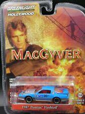 1:64 Greenlight Macgyver 1987 Pontiac Firebird Diecast Car Model Toy
