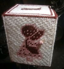 Handmade Needlepoint Crocheted Kleenex Tissue Box Cover