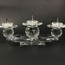 Swarovski Crystal Three Candle Ball Candleholder 7600 with Box