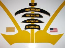 "MICHIGAN WOLVERINES Football Helmet Decals ""Maize Yellow"" - (1) Decal Set"