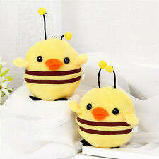 Lovely Chicken  To Honey Bee key Chain  Cotton Plush Toy Key Ring Pendant 13cm