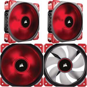 Corsair Ml120 Pro Led Red 120Mm Premium Magnetic Levitation Cooling Fan Co-90500