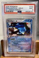 2005 Pokemon #103 Feraligatr EX Holo - EX Unseen Forces MINT PSA 9