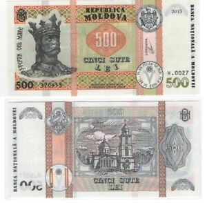 Moldova _ 500 Lei 2015 / 2020 UNC New Sign. Lemberg-Zp