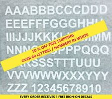 """Iron-on """"White Letters"""" Free Shipping & 3 Free Gifts"""