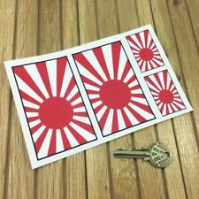Japanese Navy style Flag 4in & 2in style Car stickers