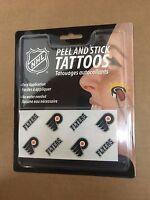 B1) Philadelphia Flyers  Peel and Stick Hockey Tattoos NHL New   Free Shipping
