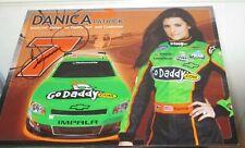2011 Danica Patrick #7 GoDaddy. com héroe autografiada Tarjeta Post con certificado de autenticidad impresionante