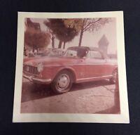 Vtg 1963 COLOR Photo Snapshot 1500 FIAT SPIDER CABRIOLET Shot in Switzerland