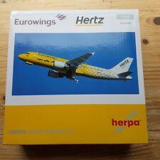 """Herpa 559904-1/200 Eurowings Airbus A320"""" Hertz 100 Jahre """" - Nuevo"""