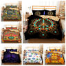 3D Hippie Peace Symbol Comforter Cover Set Duvet Cover Quilt Cover Pillowcase