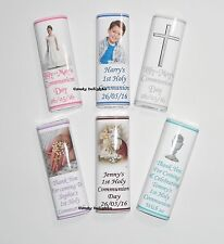 30 Personalised 1st Holy Communion Chocolate Bar WRAPPERS  Favour , Favours