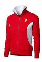 Ferrari Womens Red Jackets Zip Up Fitted Lightweight Casual Ladies Sweatshirts