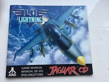 Blue Lightning for Atari Jaguar CD *manual Only* NO GAME