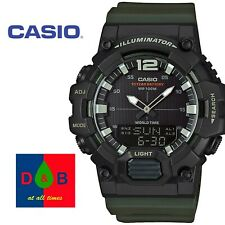 **REDUCED** Casio HDC-700-3AVEF Men's Tough Analogue Digital Green Strap Watch