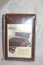 Dark Brown Coffee Target Home Twin Bed Comforter & Sham Set Wrinkle Resistant