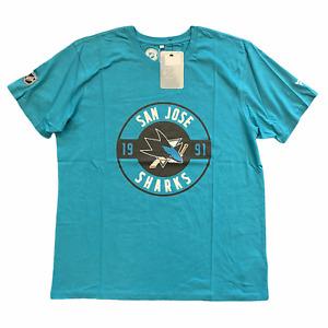 San Jose Sharks T-Shirt Fanatics NHL Men's Hometown T-Shirt - Teal - New